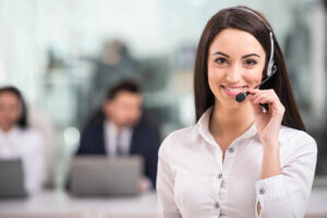 Female virtual receptionist